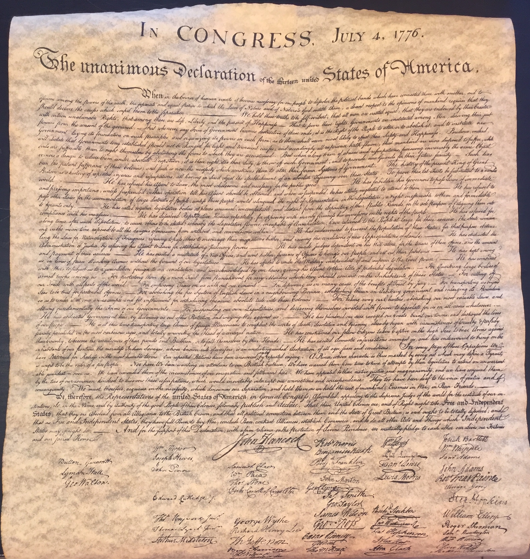 Declaration of Independence(s)